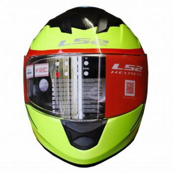 LS2 FF320 Flaux Gloss Black Fluorescent Yellow Full Face Helmet 1