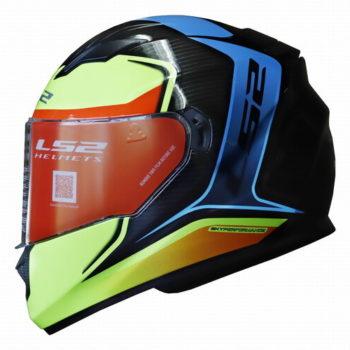 LS2 FF320 Flaux Gloss Black Fluorescent Yellow Full Face Helmet