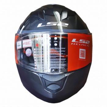 LS2 FF320 Flaux Gloss Black Grey Full Face Helmet 1