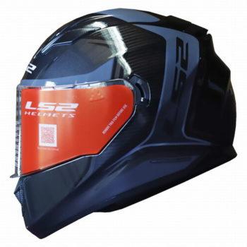 LS2 FF320 Flaux Gloss Black Grey Full Face Helmet