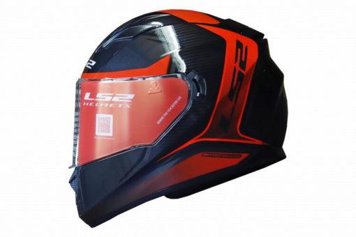 LS2 FF320 Flaux Gloss Black Red Full Face Helmet