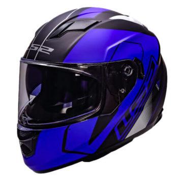 LS2 FF320 Stream Evo Stash Matt Black Blue Full Face Helmet 6JPG