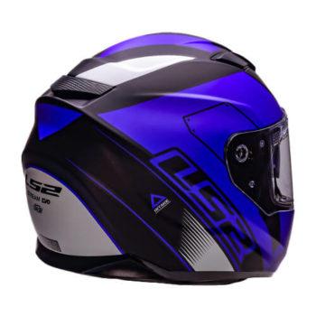 LS2 FF320 Stream Evo Stash Matt Black Blue Full Face Helmet 7JPG