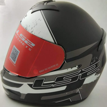 LS2 FF352 Combat Matt Black Grey White Full Face Helmet