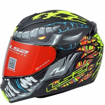 LS2 FF352 Fly Demon Matt Black Yellow Full Face Helmet