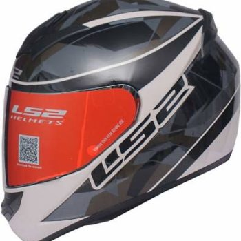 LS2 FF352 Rookie Recruit Gloss Black Grey Full Face Helmet