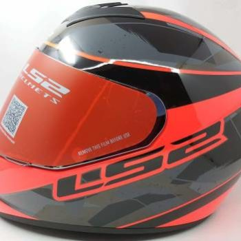 LS2 FF352 Rookie Recruit Gloss Black Orange Full Face Helmet