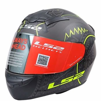 LS2 FF352 Rookie Takora Matt Black Yellow Full Face Helmet