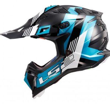 LS2 MX470 Subverter Max Matt Black Turqupsie Motocross Helmet