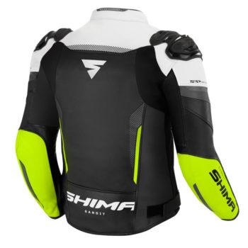 Shima Bandit Black White Fluorescent Green Riidng Jacket 2