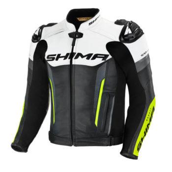 Shima Bandit Black White Fluorescent Green Riidng Jacket
