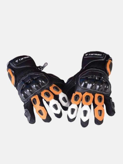 Tarmac Vento II Black White Orange Riding Gloves 2