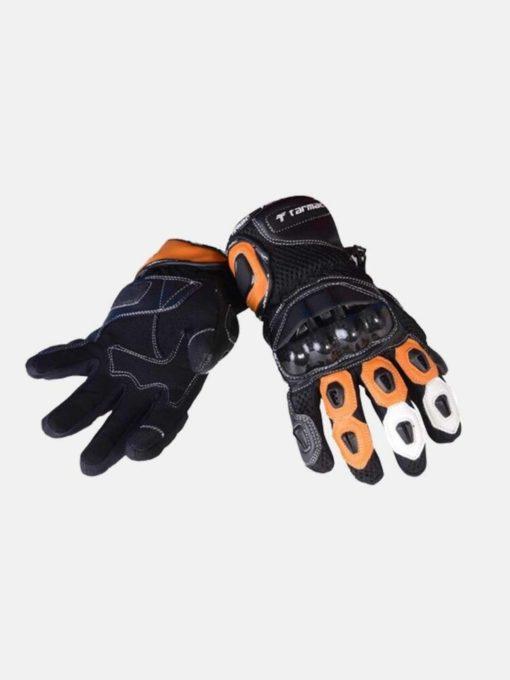 Tarmac Vento II Black White Orange Riding Gloves
