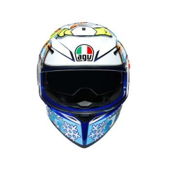 AGV K3 SV Top MPLK Rossi Winter Test 2016 Matt Blue White Yellow Full Face Helmet 2