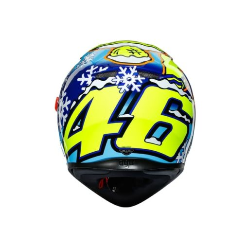 AGV K3 SV Top MPLK Rossi Winter Test 2016 Matt Blue White Yellow Full Face Helmet 4