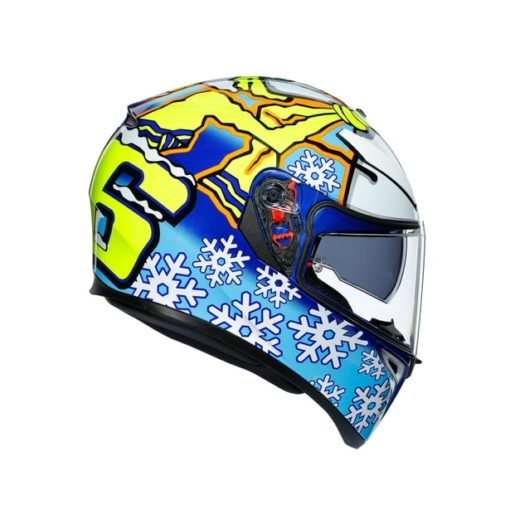 AGV K3 SV Top MPLK Rossi Winter Test 2016 Matt Blue White Yellow Full Face Helmet 5