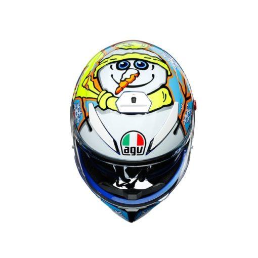 AGV K3 SV Top MPLK Rossi Winter Test 2016 Matt Blue White Yellow Full Face Helmet 7