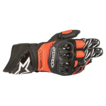 Alpinestars GP PRO R3 Black Fluorescent Red Riding Gloves