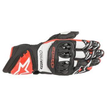 Alpinestars GP PRO R3 Black White Bright Red Riding Gloves