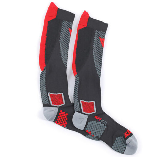 Dainese D Core High Black Red Sock