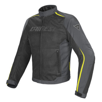 Dainese Hydra Flux D Dry Black Dark Grey Fluorescent Yellow Riding Jacket