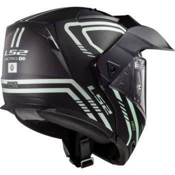 LS2 FF324 Metro Evo Firefly Matt Black White Full Face Helmet 1
