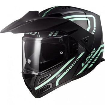 LS2 FF324 Metro Evo Firefly Matt Black White Full Face Helmet