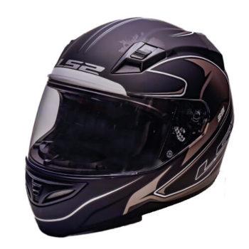 LS2 FF391 Roller Matt Black Silver Full Face Helmet 2