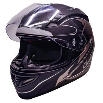LS2 FF391 Roller Matt Black Silver Full Face Helmet 3