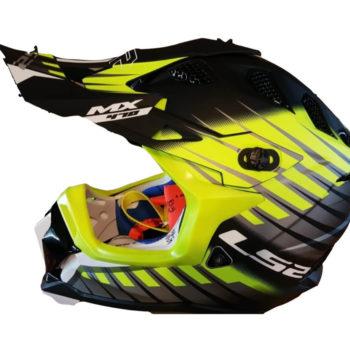 LS2 MX470 Subverter Novo Matt Black Grey Yellow Motocross Helmet