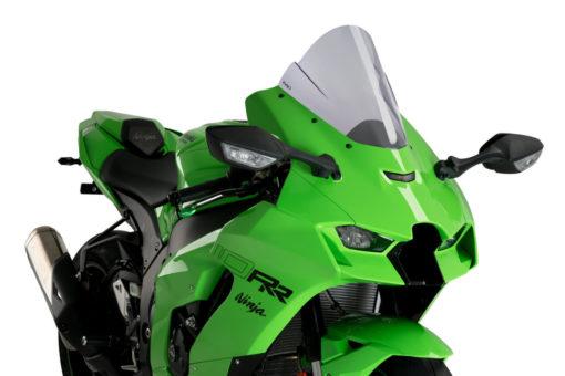 PUIG Z Racer Light Smoke Windscreen for Kawasaki Ninja ZX 10R RR 2021