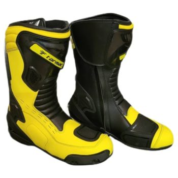 Tarmac Speed Black Fluorescent Yellow Riding Boots 1