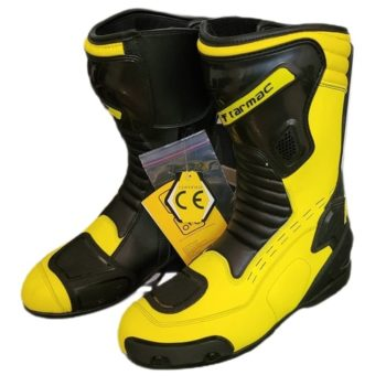 Tarmac Speed Black Fluorescent Yellow Riding Boots 2