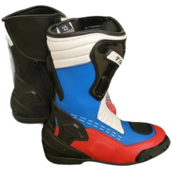 Tarmac Speed Black White Red Blue Riding Boots 1