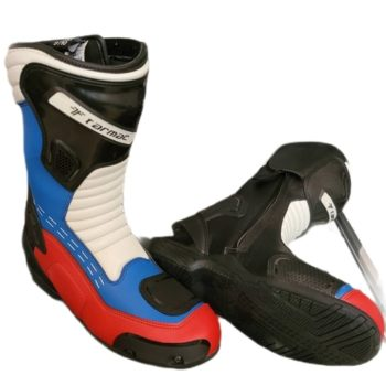 Tarmac Speed Black White Red Blue Riding Boots 2