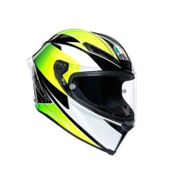 rsz agv corsa r e2205 multi supersport gloss black white lime full face helmet