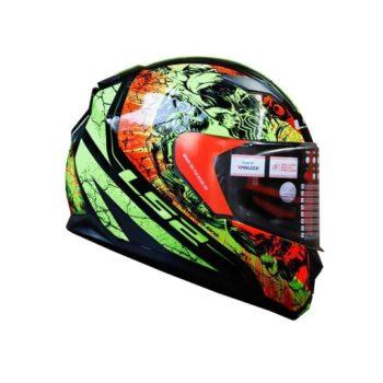 FF320 Stream Evo Throne Gloss Black Yellow Helmet 2