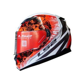 FF320 Stream Evo Throne Gloss White Orange Helmet