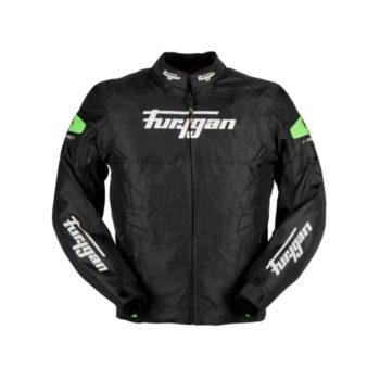 Furygan Atom Black Fluorescent Green Jacket
