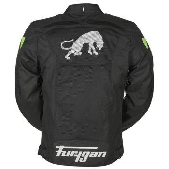 Furygan Atom Vented Black Fluorescent Green Jacket 3