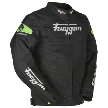 Furygan Atom Vented Black Fluorescent Green Jacket