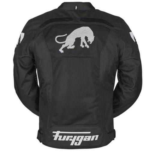 Furygan Atom Vented Black White Riding Jacket 2