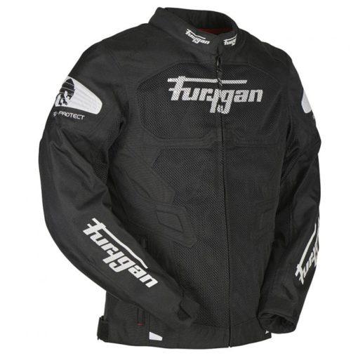 Furygan Atom Vented Black White Riding Jacket 3
