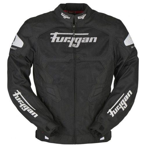 Furygan Atom Vented Black White Riding Jacket