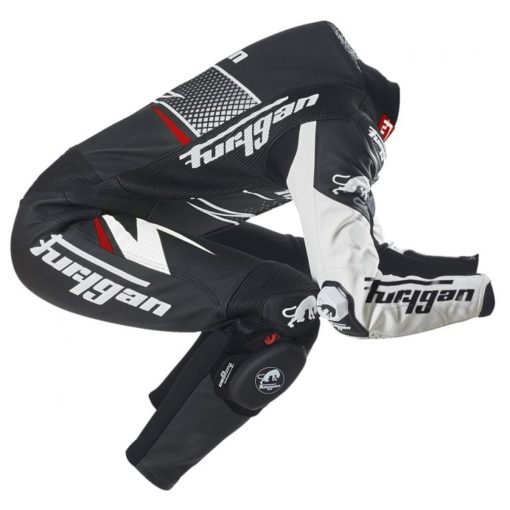 Furygan Full Ride Black White Racing Suit 2
