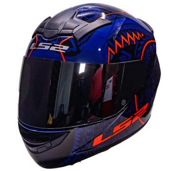 LS2 FF352 Rookie Takora Gloss Black Blue Orange Full Face Helmet 2