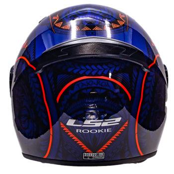 LS2 FF352 Rookie Takora Gloss Black Blue Orange Full Face Helmet 3