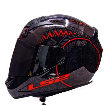 LS2 FF352 Rookie Takora Gloss Black Red Full Face Helmet 3