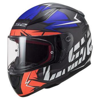 LS2 FF353 Rapid Cromo Gloss Black Fluorescent Blue Full Face Helmet
