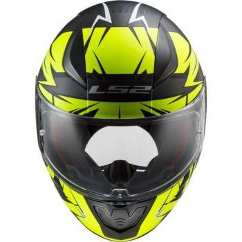 LS2 FF353 Rapid Cromo Gloss Black Fluorescent Yellow Full Face Helmet 2